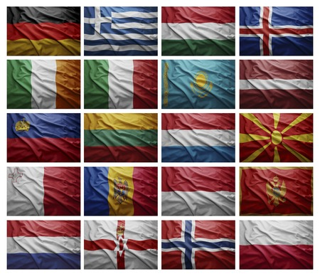 g p: Waving Flags of European countries from G to P, Collage