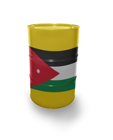 fuel provider: Barrel with Jordan flag on the white background