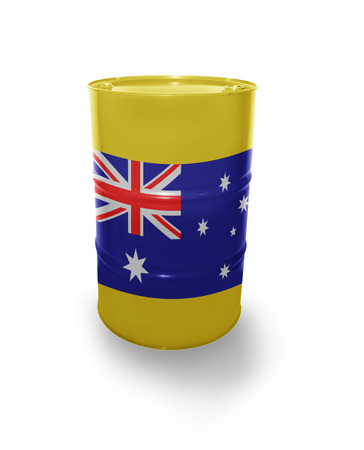 fuel provider: Barrel with Australian flag on the white background