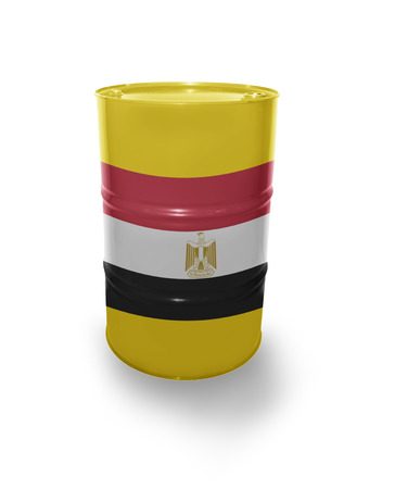 fuel provider: Barrel with Egyptian flag on the white background