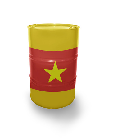 fuel provider: Barrel with Vietnamese flag on the white background