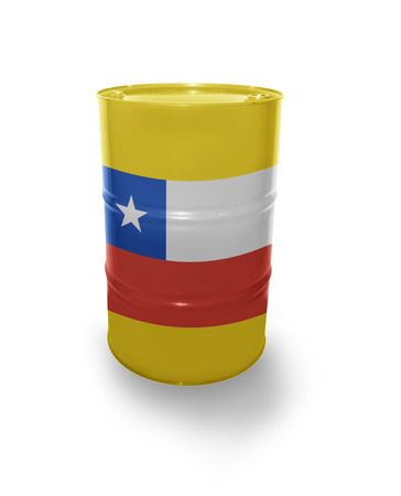 fuel provider: Barrel with Chilean flag on the white background