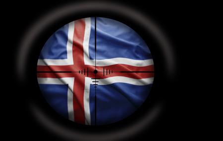 icelandic flag: Alcance Francotirador dirigido a la bandera de Islandia