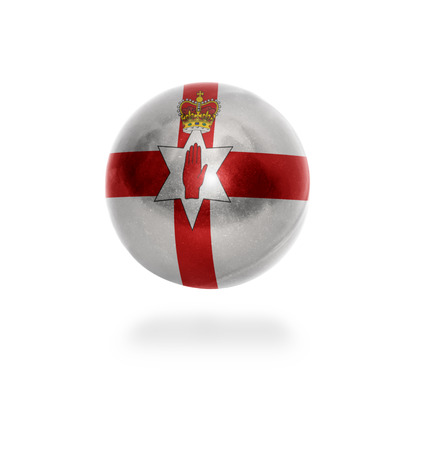 Flag of Northern Ireland on the ball isolated on white photo