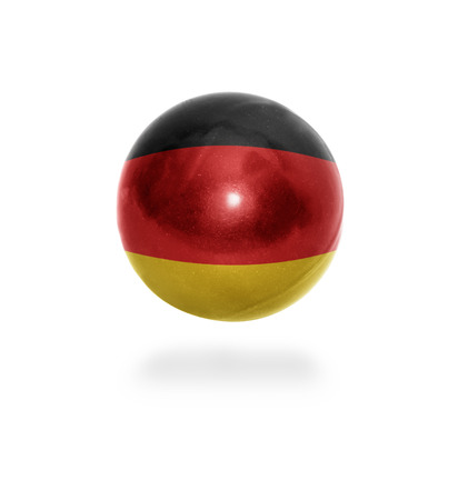 east berlin: Flag of Germany on the ball isolated on white Stock Photo