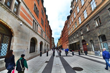 Walking path in the OldTown of Stockholm photo
