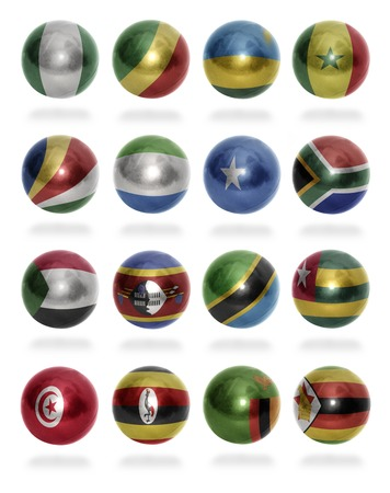somalian flag: African countries  From N to Z  flag balls on a white background