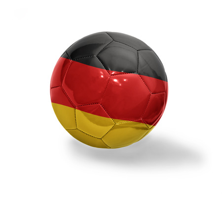 Football ball with the national flag of Germany on a white background photo