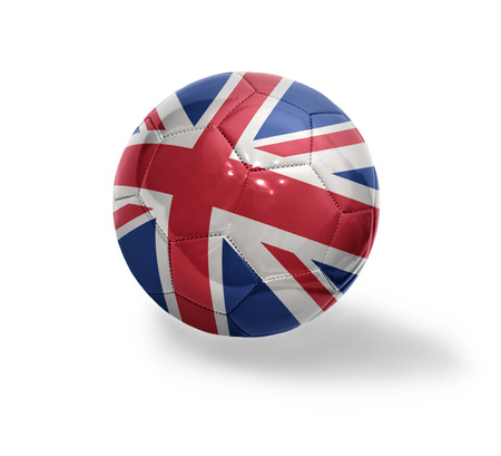 Football ball with the national flag of Great Britain on a white background photo