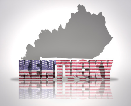 A Red Abstract State Map Of Kentucky A D Render Symbolizing - Kentucky map usa
