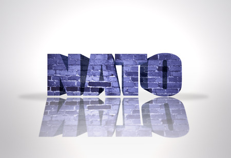 Text Nato on a white background photo