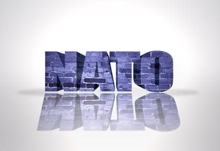 Text Nato on a white background photo