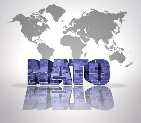 nato: Text Nato on a world map background