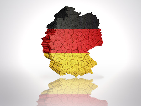 Map of Germany with German Flag on a white background photo