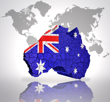 Map of new zealand with new zealand flag on a world map background map of australia with australian flag on a world map background photo gumiabroncs Gallery