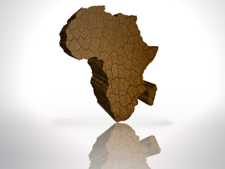 Map of Africa on a white background photo