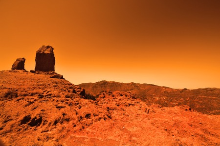 View of the red terrestrial planet photo