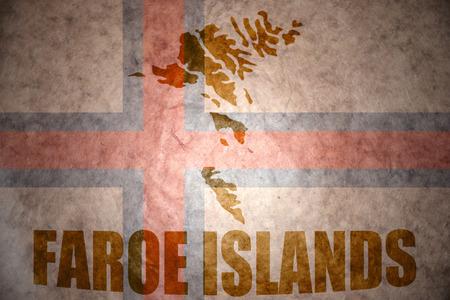 faroe islands map on a vintage flag background photo
