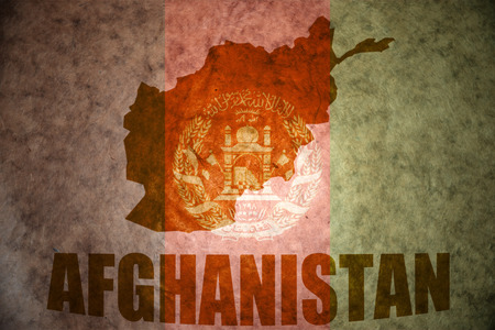 afghan flag: afghanistan map on a vintage afghan flag background