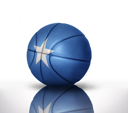 basketball ball with the national flag of somalia on a white background Stock Photo