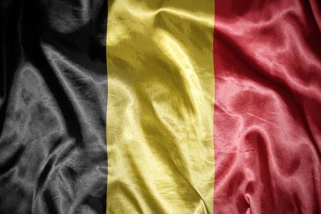 belgian: waving and shining belgian flag