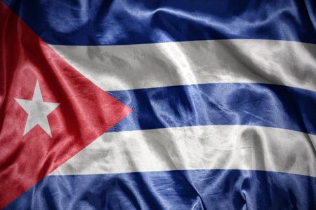 waving and shining cuban flag