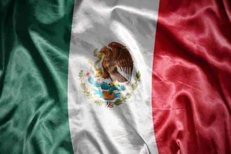 drapeau mexicain: en agitant le drapeau mexicain et brillant