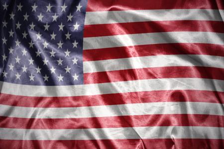 waving and shining united states of america flag photo
