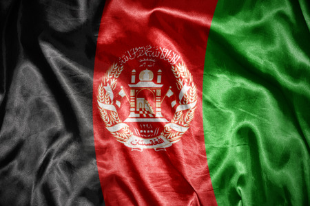 afghan: waving and shining afghan flag