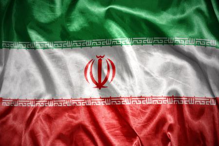 iranian: waving and shining iranian flag