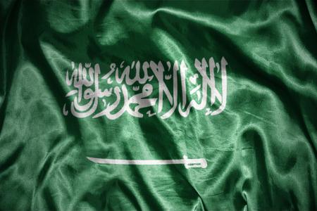 mideast: waving and shining saudi arabia flag