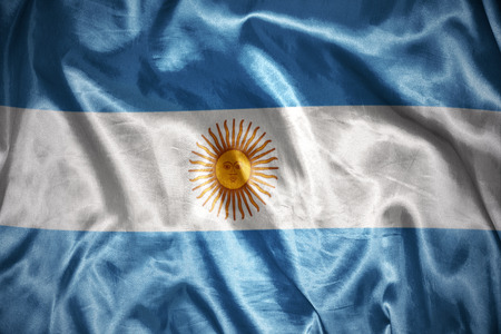 argentinean: waving and shining argentinean flag