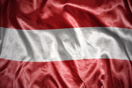 austrian flag: waving and shining austrian flag