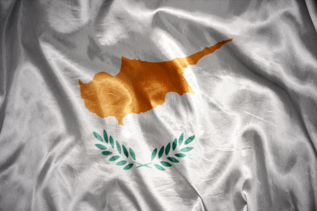 cypriot: waving and shining cypriot flag