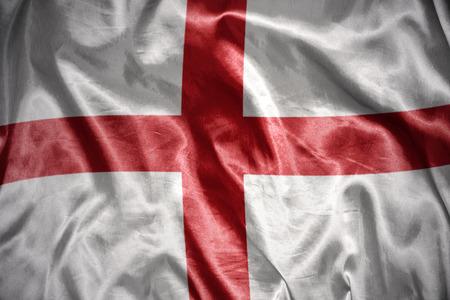 english flag: waving and shining english flag