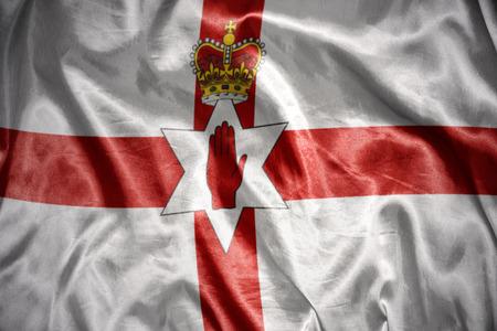 northern ireland: waving and shining northern ireland flag