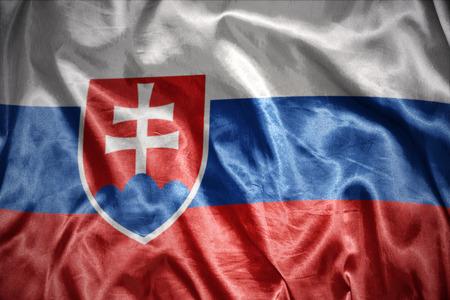 slovak: waving and shining slovak flag