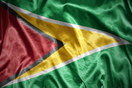 guyanese: waving and shining guyanese flag Stock Photo