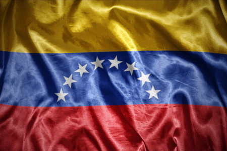 venezuelan: waving and shining venezuelan flag Stock Photo