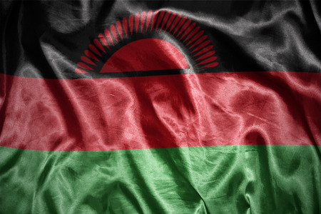 malawi: waving and shining malawi flag