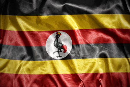ugandan: waving and shining ugandan flag