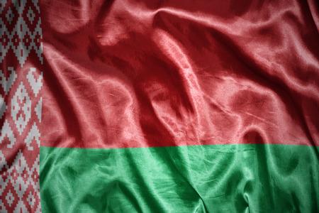 belorussian: waving and shining belorussian flag