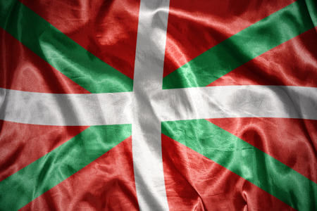 the basque country: waving and shining basque country flag Stock Photo