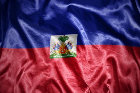 haitian: waving and shining haitian flag