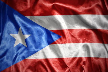 puerto rico: waving and shining puerto rico flag