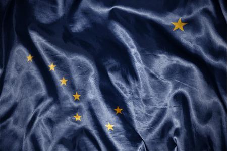 us sizes: waving and shining alaska state flag
