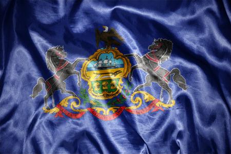 us sizes: waving and shining pennsylvania state flag
