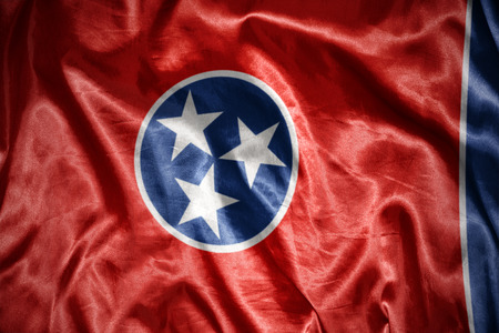 us sizes: waving and shining tennessee state flag