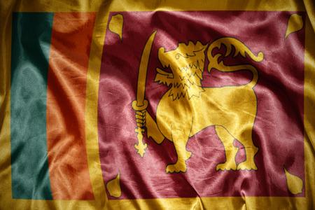 sri lanka: waving and shining sri lanka flag