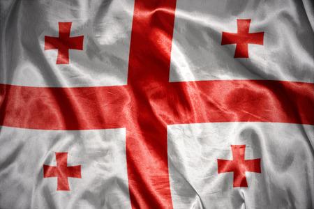 georgian: waving and shining georgian flag